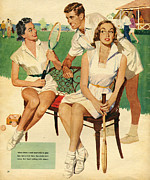 WomenÕs Art - Tennis  1953 1950s Uk Maudson  Tennis by The Advertising Archives