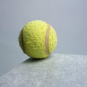 Tennis Posters - Tennis ball Poster by Bernard Jaubert