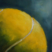 Kristine Kainer Paintings - Tennis Ball by Kristine Kainer