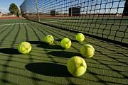 Tennis Balls And Court Print by Joe Belanger