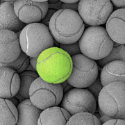 Tennis Balls Background Texture Print by Phaitoon Sutunyawatcahi