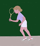 Racket Framed Prints - Tennis Framed Print by Fred Jinkins