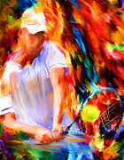 Racket Digital Art Framed Prints - Tennis II Framed Print by Lourry Legarde
