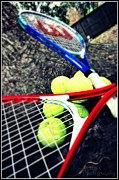Tennis Racket Digital Art - Tennis by Meagan Hoelzer