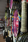 Racquet Prints - Tennis nE1 Print by Ryan Crane