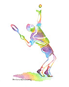 Athletes Painting Originals - Tennis Player by Barbara Rosenzweig