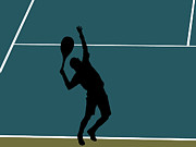 Professional Tennis Player Prints - Tennis Player Print by Dennis Beck
