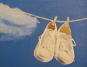 Tennis Painting Originals - Tennis Shoes by Jackie Nutter