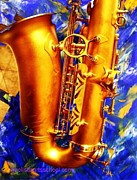 Expensive Painting Framed Prints - Tenor Sax Framed Print by PainterArtist FIN