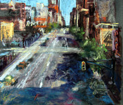 Streetscape Pastels - Tenth Avenue by Julia Patterson
