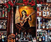 Jose Cuervo Posters - Tequila Bar Poster by Barbara Chichester