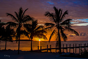 Isla Morada Prints - Tequila Sunrise and a Margarita Sunset Print by Rene Triay Photography