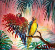 Ferns Paintings - Tequila y Rosita by Heather Calderon
