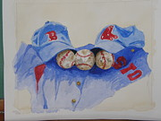 Baseball Paintings - Teresas Shirt by Don Hurley