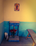 Ghost Town Photo Posters - Terlingua Church Offering Poster by Sonja Quintero