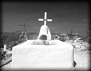 Religious Art Photos - Terlingua Grave by Sonja Quintero