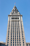 National Commercial Framed Prints - Terminal Tower I Framed Print by Clarence Holmes