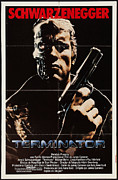 Movies Digital Art Framed Prints - Terminator Poster Framed Print by Sanely Great