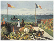 Sailboat Ocean Prints - Terrace at Sainte-Andresse Print by Claude Monet