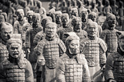 Figures Photo Metal Prints - Terracotta Army Metal Print by Adam Romanowicz