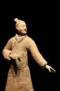 Qin Photos - Terracotta Warrior in Xian China by Fototrav Print