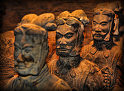 Qin Shi Huang Framed Prints - Terracotta Warriors - The Emperors Army Framed Print by Lee Dos Santos