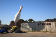 Travel Truck Prints - Terre Haute - Giant Bowling Pin Print by Frank Romeo