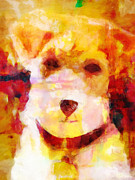 Popart Painting Prints - Terrier Pop-art Print by Lutz Baar