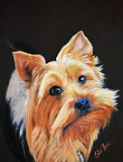Head Shot Painting Prints - Terrier Print by Shirl Theis
