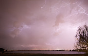 Storm Prints Framed Prints - Terry Lake Lightning Thunderstorm Framed Print by James Bo Insogna