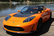 Tesla Photos - Tesla Roadster Electric Car 5D22814 by Wingsdomain Art and Photography