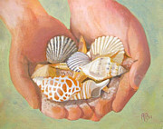Robie Benve Prints - Tesori del mare - Treasures of the Sea Print by Robie Benve