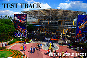 Walt Disney World Digital Art - Test Track opening 1999 by David Lee Thompson