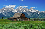 Teton Barn Print by Greg Norrell