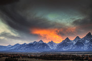 Beauty Mark Art - Teton Explosion by Mark Kiver