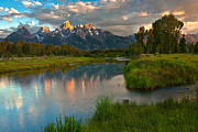 """reflection Photographs"" Posters - Teton Morning Poster by David  Forster"