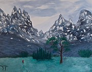 Teton Paintings - Teton National Park by Troy Thomas