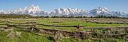 Teton Range Panorama Print by Aaron Spong
