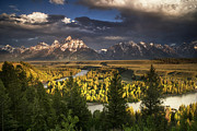Grand Tetons Prints - Teton Shadow Play Print by Andrew Soundarajan