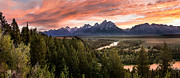 David  Forster - Teton Snake River Sunset
