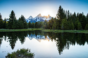Tony Murray Framed Prints - Teton Sun Framed Print by Tony Murray