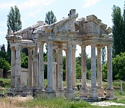 Nike Metal Prints - Tetrapylon The Arched Gate of Aphrodisias Metal Print by Tracey Harrington-Simpson