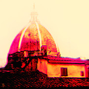 Cheery Digital Art Originals - Tetti romantico a Firenze by Li   van Saathoff