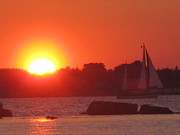 Charters Photos - Tevake Sailing Sunset by Donnie Freeman