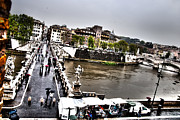 Francesco Zappala Metal Prints - Tevere in rain Metal Print by Francesco Zappala