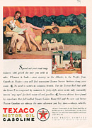 Featured Prints - Texaco 1929 1920s Usa Cc Oil Gas Petrol Print by The Advertising Archives