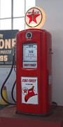 Strong Vertical Images Prints - Texaco Fire Chief Gasoline - Bennett Gas Pump Print by Mike McGlothlen