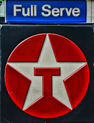 Fill Posters - Texaco Gas Sign Full Serve Poster by Paul Ward