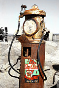 Antique Pumps Prints - Texaco Sky Cheif Print by Cheryl Young