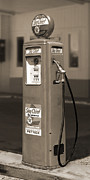 Antique Digital Art Metal Prints - Texaco SkyChief - Tokheim Gas Pump 2 Metal Print by Mike McGlothlen